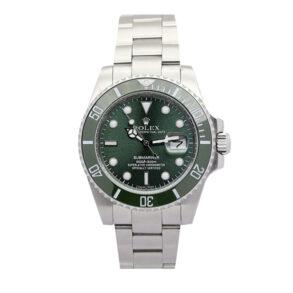 Hombres Réplica Verde Rolex Submariner Hulk 116610lv Acero Inoxidable