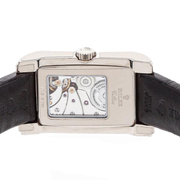 Oro blanco Hombres Rolex Cellini Prince falso 5443/9 Mecánico de cuerda manual