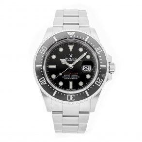 Hombres Redondo de acero inoxidable falso Rolex Sea-Dweller 4000 126600 Negro