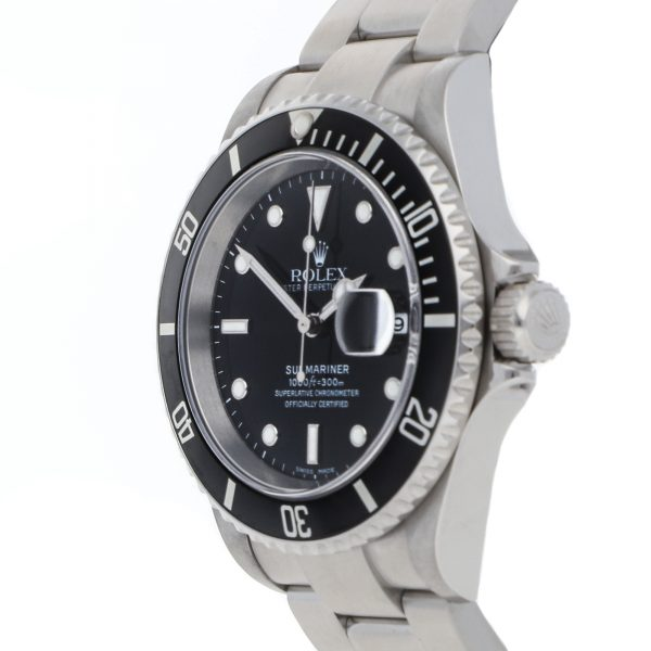 Dial Negro Replica Rolex Submariner 16610 Caja 40mm Acero inoxidable