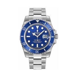 Rolex Submariner 116619 White 40mm Reloj automático dorado para hombre azul W
