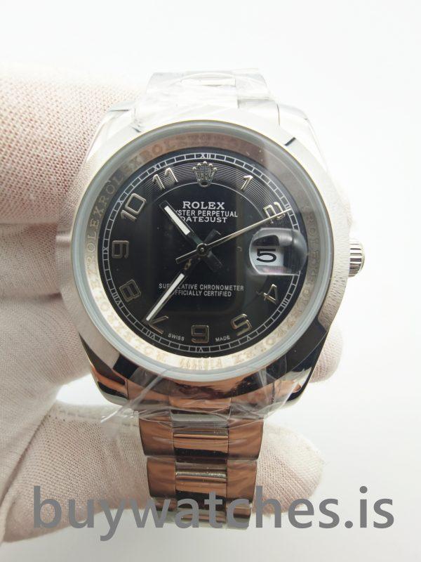 Rolex Datejust 116200 Reloj Automático de Acero Inoxidable 904L Negro 36 Mm