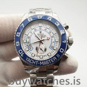 Rolex Yacht-master 116680 Reloj automático para hombre de acero blanco de 44 mm