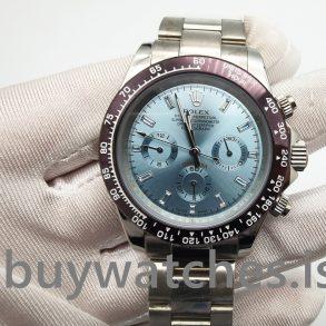 Rolex Daytona 116506 Reloj de platino 950 automático azul claro para hombre