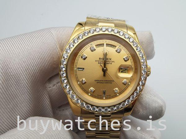 Rolex Day-Date 128348rbr 36 mm Reloj automático unisex de oro con diamantes