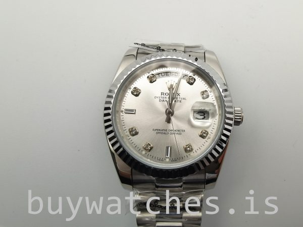 Rolex Day-Date 128239 Reloj automático con diamantes de 36 mm para hombre