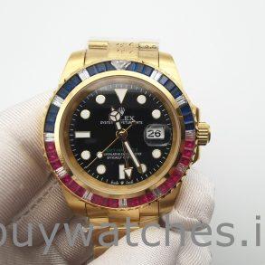 Rolex GMT-Master II 116748 Reloj automático unisex de oro amarillo de 40 mm