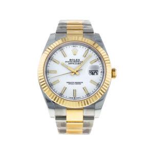 Rolex Datejust Oyster White Stk Asian 2813 Reloj automático blanco para hombre