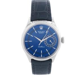 Rolex Cellini Date 50519 Mens 39mm Reloj automático azul acero