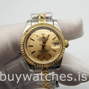 Rolex Datejust 179173 Ladies 26mm Reloj automático de acero dorado