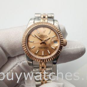 Rolex Datejust 278271 Women 31mm Reloj automático de acero en oro rosa