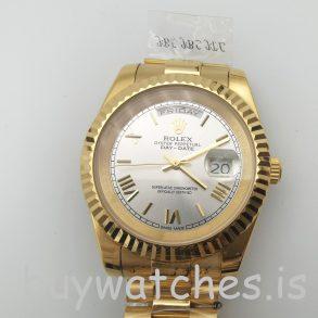 Rolex Day-Date II 218238 Reloj automático para hombre de oro amarillo de 41 mmRolex Day-Date II 218238 Reloj automático para hombre de oro amarillo de 41 mm