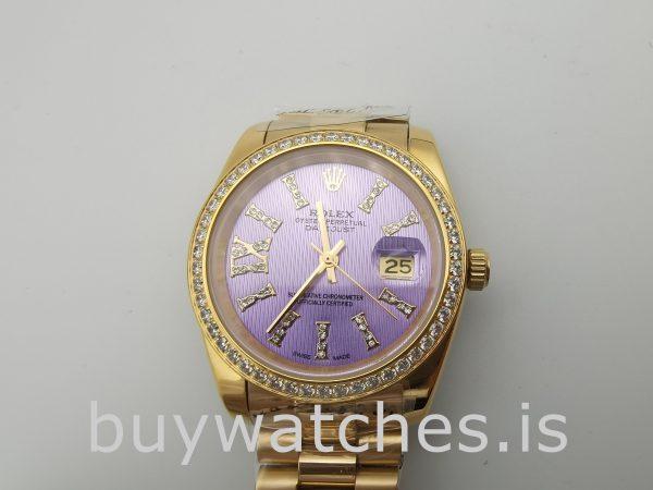 Rolex Datejust 278384 Reloj morado automático para mujer de 31 mm