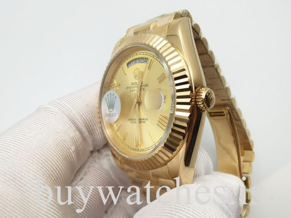 Rolex Day-Date 228238 Reloj de acero automático unisex dorado de 40 mm