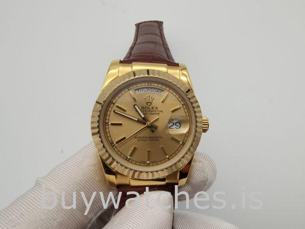 Rolex Day-Date 1503 Reloj automático unisex dorado de 34 mm