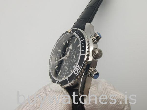 Omega Seamaster Pr603 Reloj Automático Platino Azul Marino de Cuero Negro