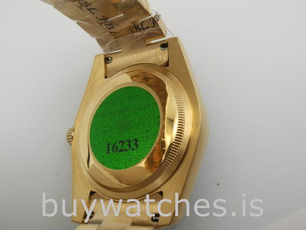 Rolex Day-Date 18238 Reloj automático para hombre con esfera plateada de 36 mm