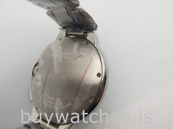 Cartier Ballon Bleu W6920002 Reloj automático plateado para hombre de 47 mm