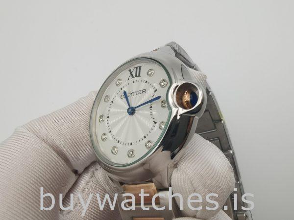 Cartier We902031 Ballon Bleu Reloj automático con esfera plateada de 36 mm