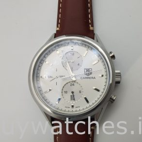 Tag Heuer Carrera Car2111.Fc6291 Reloj automático de cuero para hombre de 41 mm