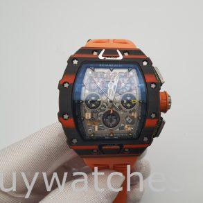 Richard Mille RM11-03 Reloj de goma unisex con caja de carbono de 44 mm