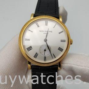 Patek Philippe Calatrava 5119J-001 Reloj para hombre de 36 mm con esfera blanca