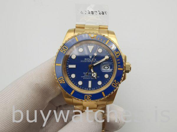 Rolex Submariner 116618LB Reloj para hombre con esfera azul de 40 mm