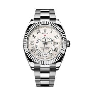Rolex Sky-Dweller 326939 Ivory Dial 42mm Reloj automático redondo para hombre