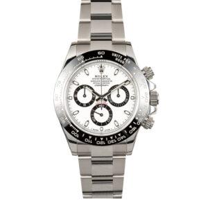 Rolex Daytona 116500 Reloj para hombre con esfera blanca de 40 mm