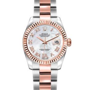 Rolex Datejust 179171 Lady Grey 26mm Reloj automático de acero en oro rosa