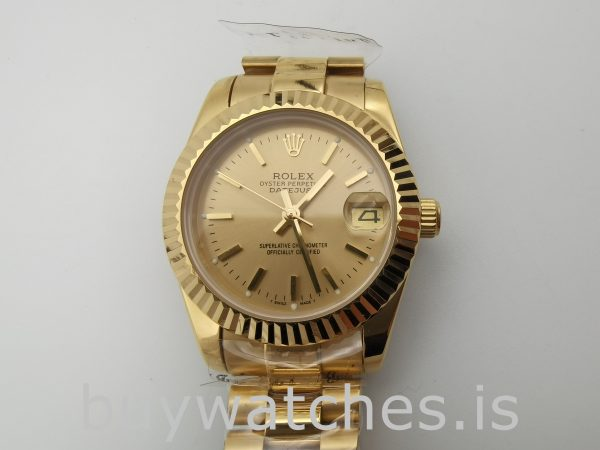 Rolex Datejust 68278 Reloj automático Champagne Dial Ladys de 31 mm
