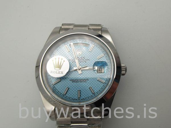 Rolex Day-Date Reloj Automático Blue Stk Smth Men 40mm 3255