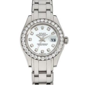 Rolex Datejust 80299 Reloj de mujer de 29 mm con esfera de oro blanco