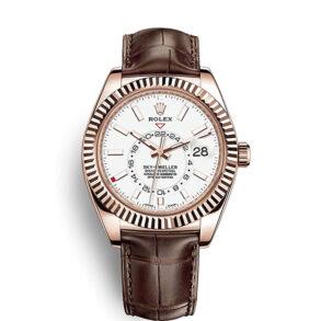 Rolex Sky-Dweller 326135 White 42mm Reloj automático color marrón sólido