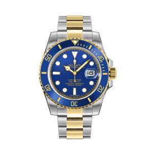 Rolex Submariner 116613LB Reloj redondo dorado de acero inoxidable de 40 mm