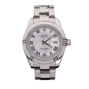 Rolex Datejust 4770 Reloj blanco para hombre de 41 mm con números romanos