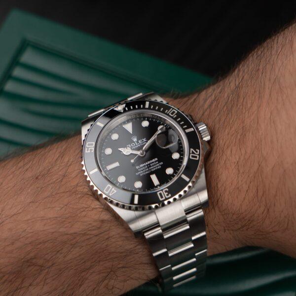 Rolex Submariner 126610 Reloj unisex de acero con esfera negra de 41 mm