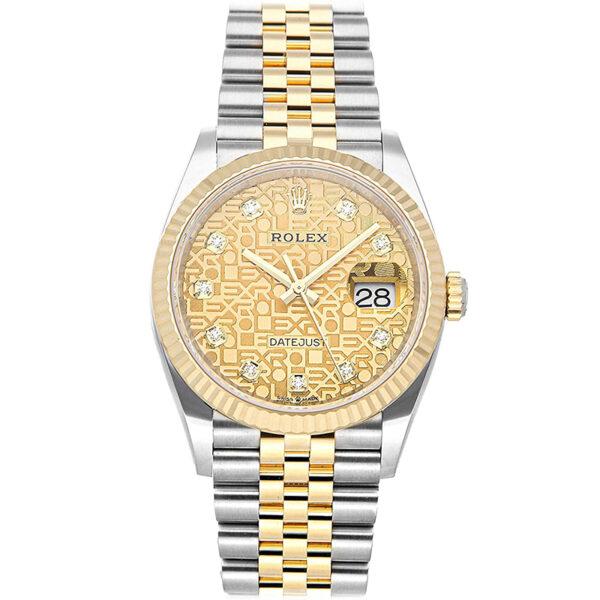 Rolex Datejust 126233 Reloj automático de 36 mm para hombre con esfera beige