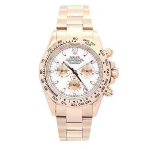 Rolex Daytona 116505 Reloj para hombre con esfera de oro rosa de 40 mm