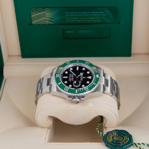 Rolex Submariner 126610LV Reloj unisex de acero de 41 mm con esfera negra