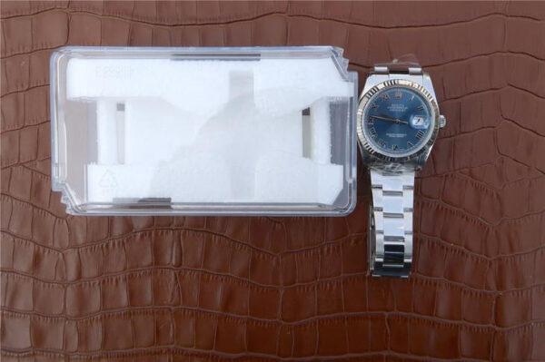 Rolex Datejust 116234 Replica Reloj para dama con esfera azul de 36 mm
